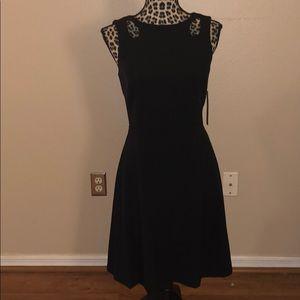 NWT black Tahari a line dress